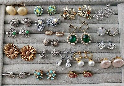 £12.99 • Buy Job Lot Collection Vintage Retro Clip On Earrings Screw Back Earrings 20 Pairs
