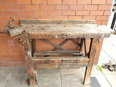 £60 • Buy Vintage Carpenters Work Bench With.vice