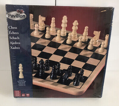 £19.99 • Buy Wooden Board And Chess Pieces By  PAVILION Chess Set  New Sealed RARE