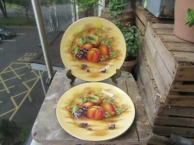 £25.01 • Buy AYNSLEY ORCHARD GOLD  PAIR PLATES 8 1/4 In WIDE
