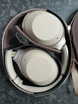 AU350.52 • Buy Sony WH-1000XM2 Headphones, Gold, Noise Cancelling, Bluetooth, Touch Control