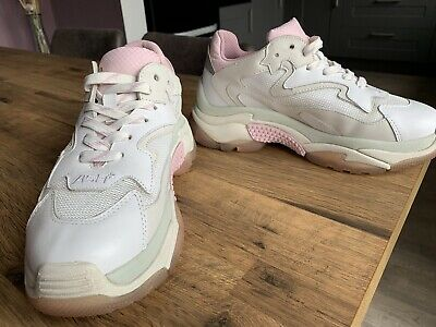 £30 • Buy ASH ADDICT White/pink Ladies Chunky Trainers EUR 37 Size 4
