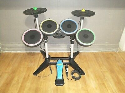 £144.79 • Buy Rock Band 2 Drums With Cymbals Dongle Microphone Kick Pedal PS3