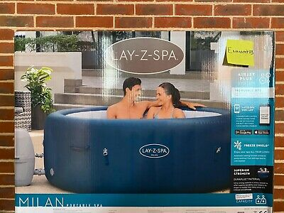 £610 • Buy Lay-Z-Spa Milan Hot Tub 6 Person - Lazy Spa - Brand New In Box