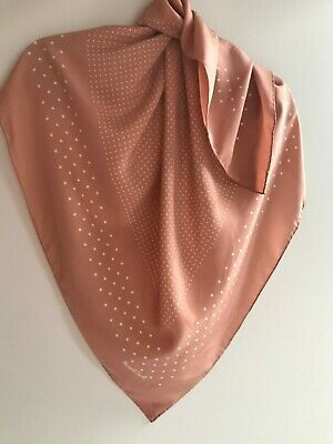 £57 • Buy Margaret Howell MHL 100% Silk Poudre Cream Polka Dot Spots Scarf Great Condition