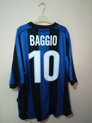 £28 • Buy AUTHENTIC INTER Milan Football Shirt Home 1999/2000 BAGGIO Size L