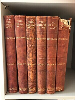 £39.99 • Buy Vintage Six Volumes Of H W Wilson The Great War ( World War 1) Collection