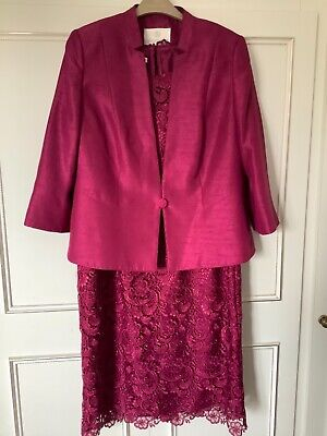 £65 • Buy Jacques Vert Size 16/18 Dress And Jacket Outfit Wedding/Occasion