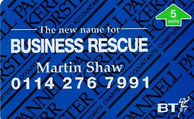£3 • Buy Bt Business Rescue Mint Phonecard