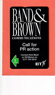 £4 • Buy Bt Band & Brown Mint Phonecard