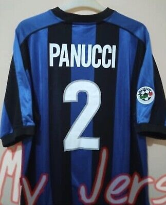 £26 • Buy AUTHENTIC INTER MILAN Football Shirt Home 1999/00 PANUCCI Size L