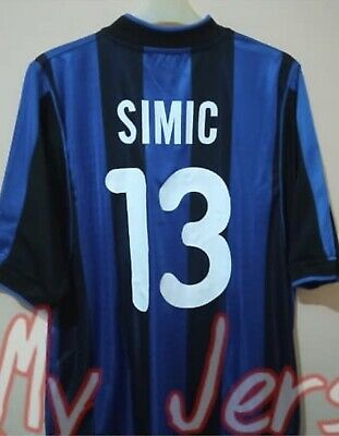 £16 • Buy AUTHENTIC INTER MILAN Football Shirt Home 2000/01 Size L SIMIC