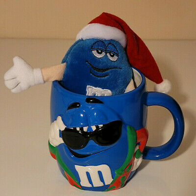 $27 • Buy M&M Galerie  BLUE  6  Christmas Edition Mug And Plush Toy / RARE, Excellent Item