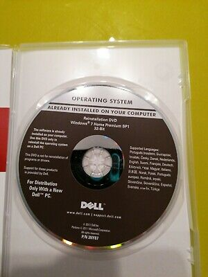 £9.99 • Buy Windows 7 Home Premium SP1 32-Bit - Spartan Dell Reinstall DVD -With Product Key