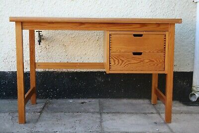 £50 • Buy Solid Pine Desk. Retro Mid Century School Style. Ideal For Home Office. Delivery