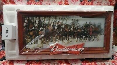 $ CDN225.64 • Buy Budweiser Clydesdales Advertising Beer Sign Light Bradford Exchange Limited Ed.