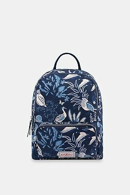 £10 • Buy New With Tags Cath Kidston Navy Blue Magical Memories Backpack Small Bird Floral