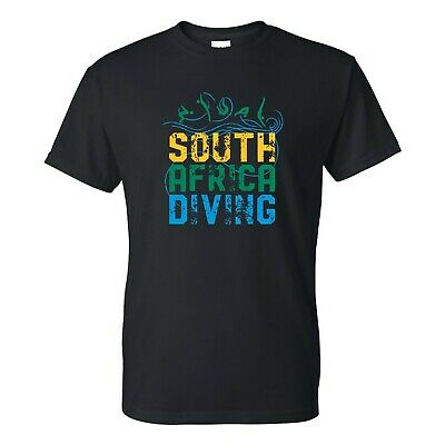 £11.58 • Buy South Africa Diving - Summer Games Swimming Sports Event T Shirt - Black