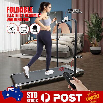 AU299 • Buy LCD Foldable Electric Treadmill Widen Walking Pad Home Gym Exercise Fitness AU C