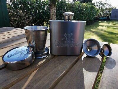 £16.99 • Buy Glenfiddich Hip Flask And Collapsible Cup Gift Set Brand New