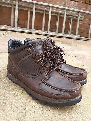 £59.99 • Buy Mens Vintage Rockport Waterproof Hydroshield Brown Leather Boots Size 10W