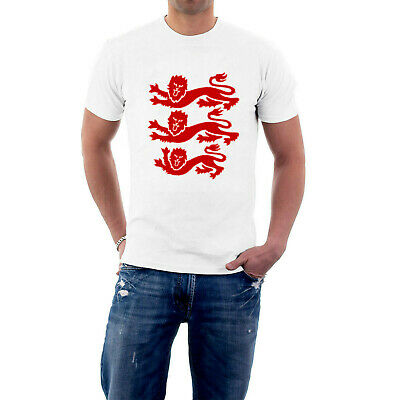 £16.25 • Buy England T-shirt Heraldic 3 Lions. Cricket Rugby Football St George's Day
