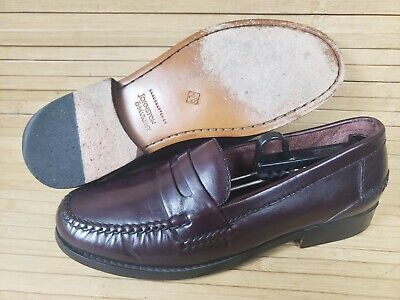 $34.90 • Buy Men's 9M Johnson Murphy Leather Cordovan Penny Loafers Handcrafted Brazil Shoes