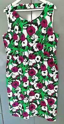 £17.99 • Buy Laura Ashley Occasion Purple/green Floral Mix Linen Mix Dress Size 18 Worn Once