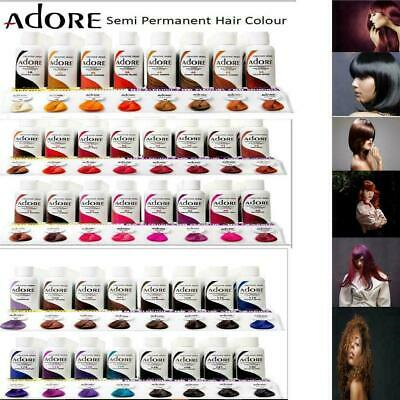 £8.44 • Buy Adore Semi Permanent Hair Dye All Colours 118 Ml 1,2,3,4 Pack Available  *uk*