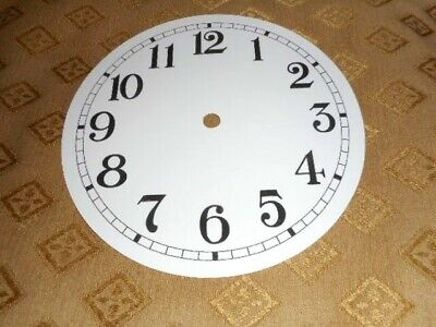 £2.25 • Buy Round PAPER (CARD) Clock Dial/Face - 2 1/2  MINUTE TRACK- Arabic -GLOSS WHITE