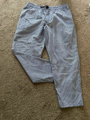 £15 • Buy A Brand New Le-chef Blue Check, Chefs Trouser With Drawstring Size Xxs