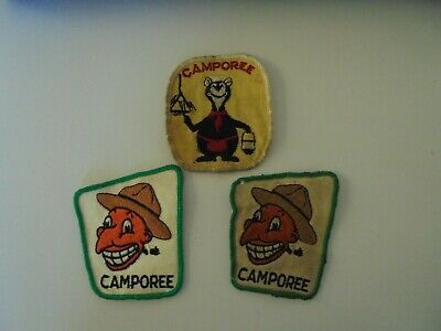 £2.99 • Buy CANADIAN SCOUT CUBS BEAVERS CAMPOREE WOVEN BADGES X 3