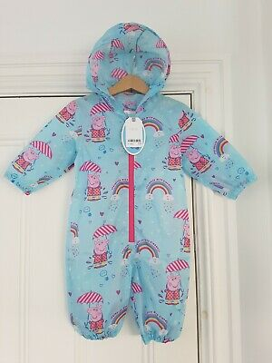 £21.50 • Buy BNWT NEXT PEPPA PIG Puddlesuit Puddle Suit Showerproof Size Age 9-12 Months