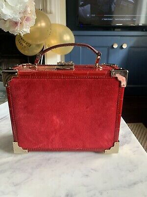 £71 • Buy £450 RRP: ASPINAL London, Red Velvet And Leather Trunk Bag. Brilliant Condition