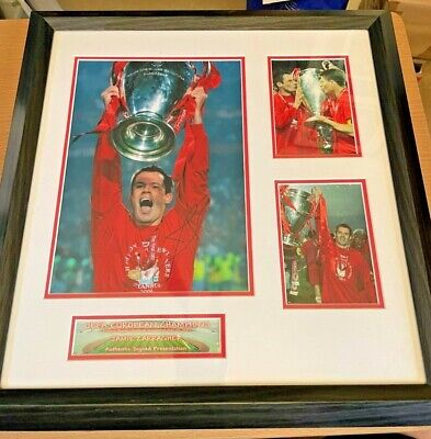 £34.99 • Buy Liverpool FC Jamie Carragher - Signed Picture. Framed/CoA **FREE P&P**