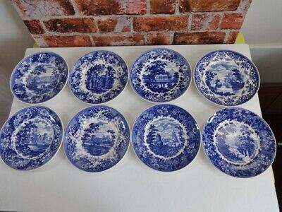 £79 • Buy Wedgwood Queens Ware Blue & White Collection Plates X 8