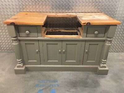 £695 • Buy Solid Pine Freestanding Kitchen Belfast Sink Unit With Drawers & Cupboard