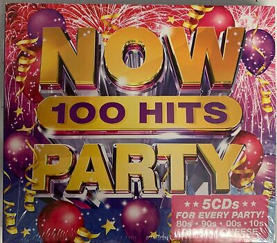£7.99 • Buy V/A - Now 100 Hits: Party (5CD) New And Sealed - Calvin Harris ,Kygo,Psy,Whigfie