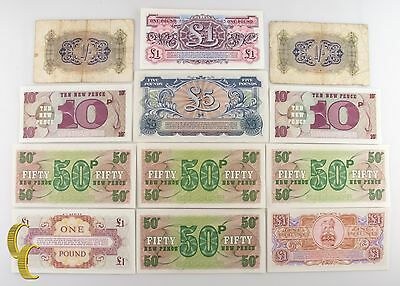 £37.85 • Buy 1943-1958 Great Britain British Military Authority 12 Pc Note Shilling F-UNC