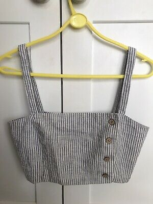 AU2.40 • Buy Pull And Bear Crop Top Linen