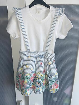 £0.99 • Buy Girls H&M Summer Floral Pinafore Dress Age 12-18 Months