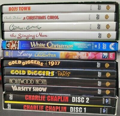 £21.79 • Buy Lot Of Classic Hollywood DVD's: Charlie Chaplin, Busby Berkeley, Christmas, Lucy