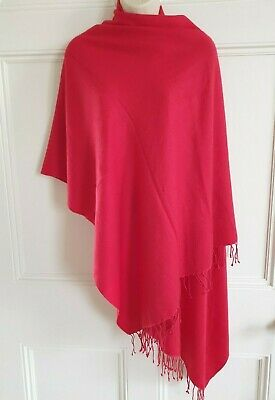 £15 • Buy Pure Cashmere Pashmina Shawl Red New Without Tags  O