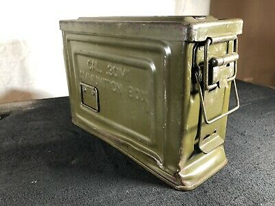 $35 • Buy Vintage US WWII Metal 30 Cal. M1 Ammo Ammunition Can Box Flaming Bomb Reeves