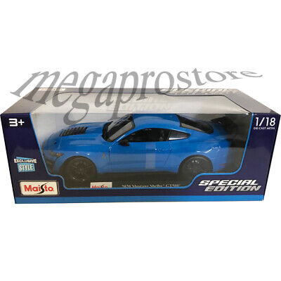 $23.77 • Buy Maisto 2020 Ford Shelby GT 500 Mustang 1:18 Diecast Model Car Blue