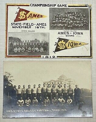 £496.32 • Buy 1912 Iowa State Cyclones Football Team Championship Year Real Photo Postcards!!!