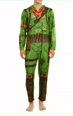 $ CDN36.09 • Buy Fortnite Rex Men's Lounge Union Suit Costume Zip Up Polyester Size 2XL NWT