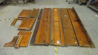 £9.99 • Buy Pitch Pine Church Pew Salvage Sections Upcycle Opportunity