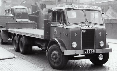 £1 • Buy Road Haulage  Transport Lorry Photo-rapid Oad Services-albion 6 Wheel    Vs6841