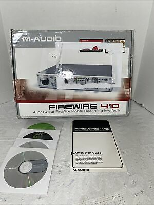 $45 • Buy M-Audio FireWire 410 Digital Recording Interface With Box And Software
